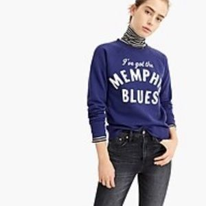 J. Crew NWOT❗️Memphis Blues Sweatshirt
